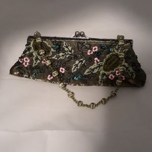 Apt 9 Beaded and Embroidered Clutch